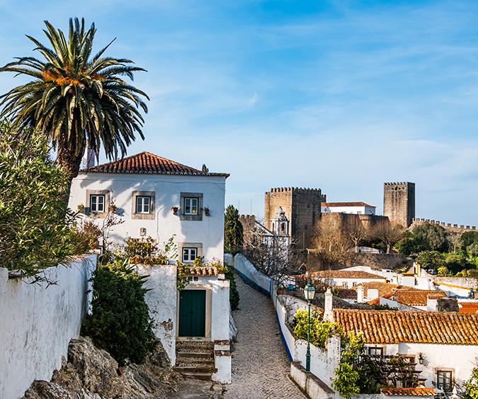 Le case bianche di Obidos - Portogallo
