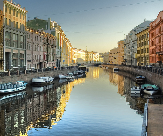 San Pietroburgo vista dal battello,Russia