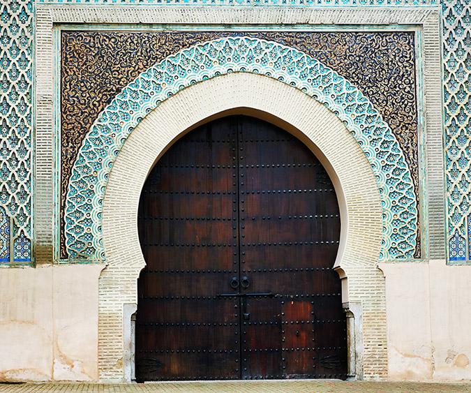 Particolare della Porta di Bab El Mansour, Meknes - Marocco