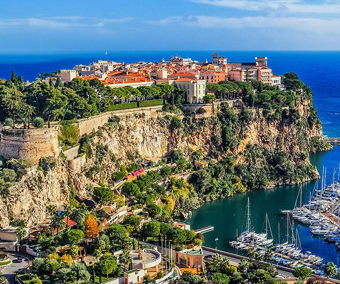 Il vecchio porto di Fontvieille, Principato di Monaco - Francia