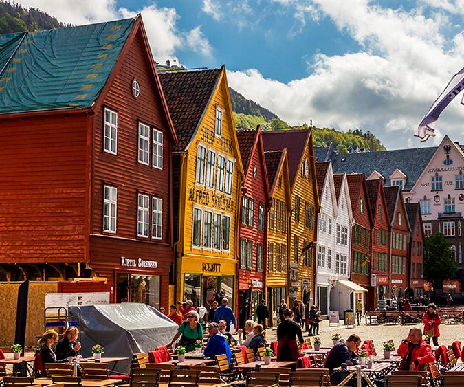 Il quartiere Bryggen a Bergen, Bergen - Norvegia