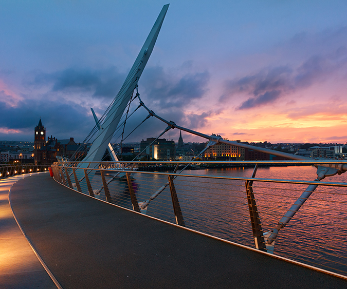 Il Peace Bridge di Derry, Derry - Irlanda