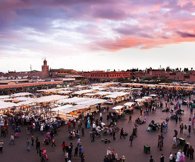 Vista dell Piazza Djemaa El Fna, Marrakech - Marocco