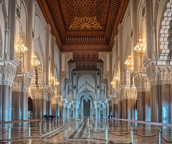 Interno Moschea Hassan II, Casablanca - Marocco