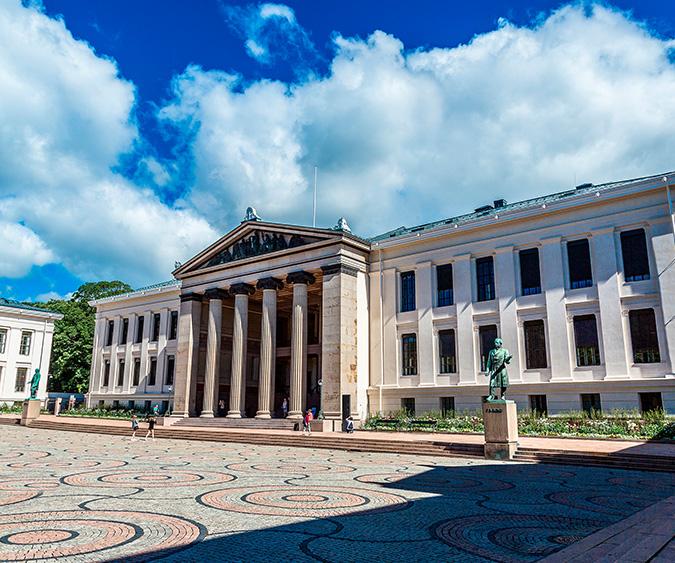 L'antica università di Oslo, Oslo - Norvegia
