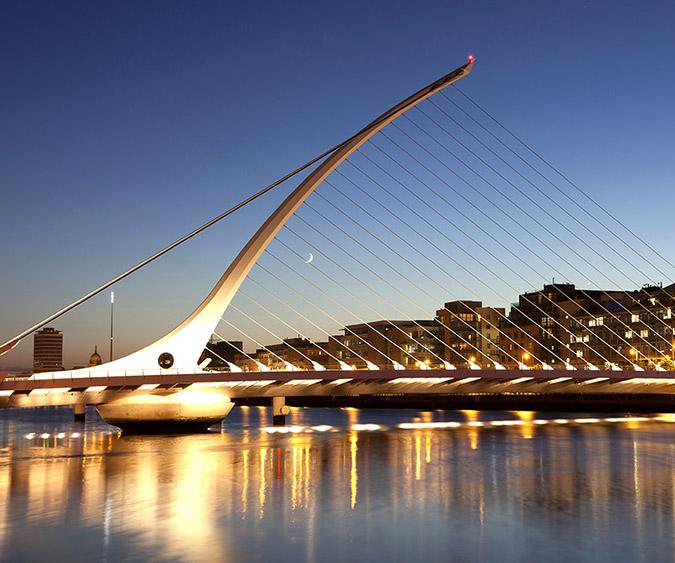 Panorama ponte Samuel Beckett, Dublino - Irlanda