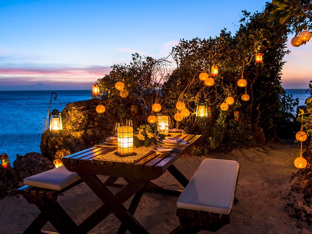 Amanpulo Island Resort - tavolo serale