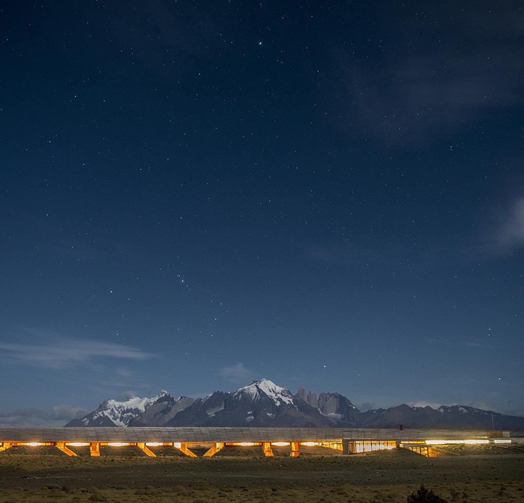 Tierra Patagonia - panoramica serale