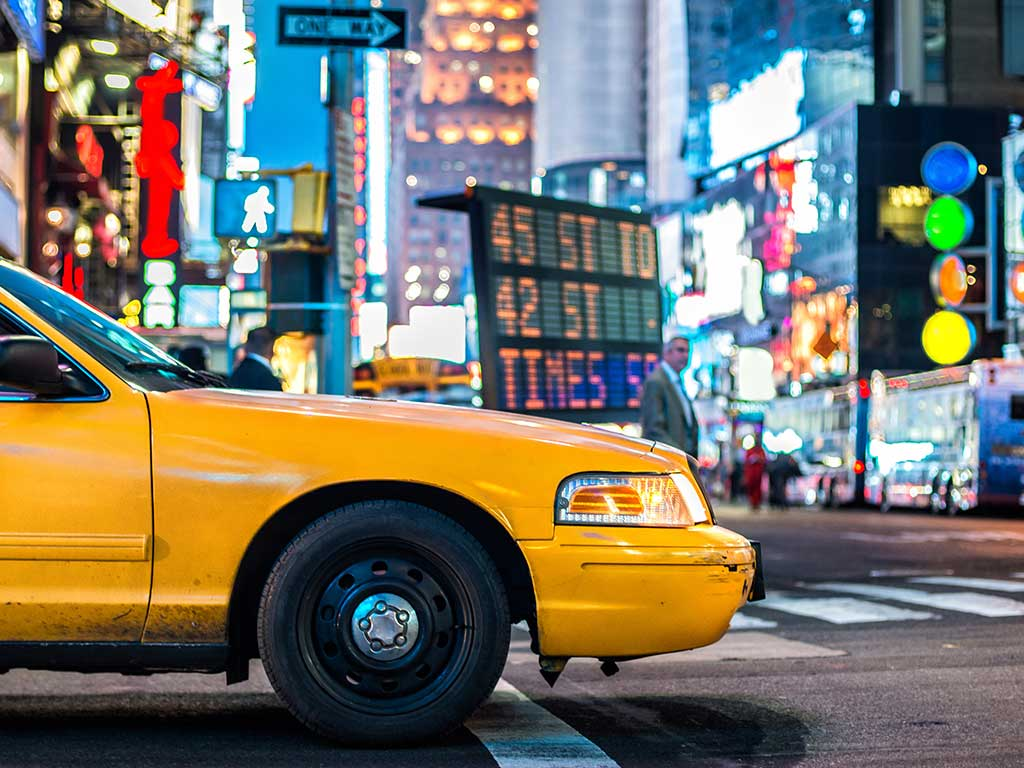 New York - Taxi a Times Square