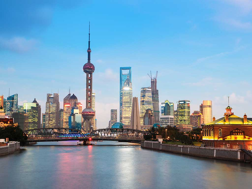 Shanghai - veduta serale