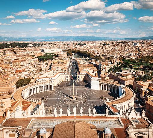 Panoramica di Roma, Lazio - Italia